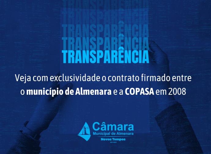 Veja com exclusividade o contrato firmado entre o Município de Almenara e a Copasa em 2008